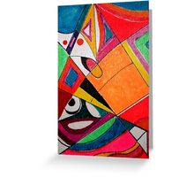 Fruit box Art - geometric abstract no 4 of 4 Greeting Card
