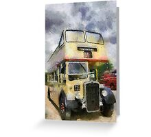 Vintage open top Bristol KSW Greeting Card
