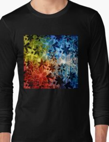 Colorful Vintage Trendy Floral Pattern Long Sleeve T-Shirt