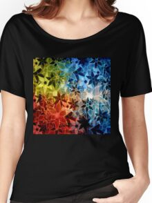 Colorful Vintage Trendy Floral Pattern Women's Relaxed Fit T-Shirt
