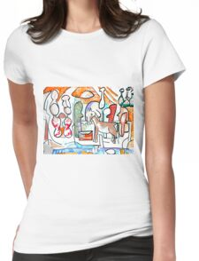 Abstract surreal Nativity Womens Fitted T-Shirt