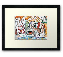 Abstract surreal Nativity Framed Print