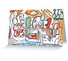 Abstract surreal Nativity Greeting Card