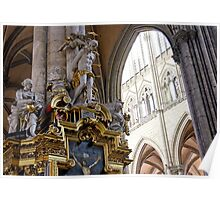 Interior, Amiens Cathedral, France Poster