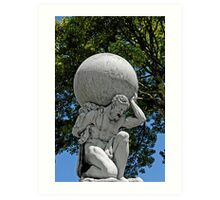 Statue of Hercules, Portmeirion, Wales, UK Art Print