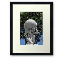 Statue of Hercules, Portmeirion, Wales, UK Framed Print