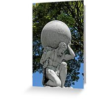Statue of Hercules, Portmeirion, Wales, UK Greeting Card