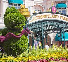 Disneyland Paris 20th Anniversary Entrance Decor by ThatDisneyLover