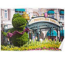 Disneyland Paris 20th Anniversary Entrance Decor Poster
