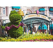 Disneyland Paris 20th Anniversary Entrance Decor Photographic Print