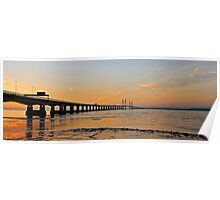 Second Severn crossing at Sunset, Bristol, UK Poster