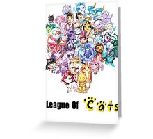 League Of Cats <3 Greeting Card