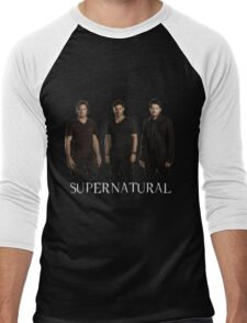 Supernatural - Jared, Jensen & Misha Men's Baseball ¾ T-Shirt