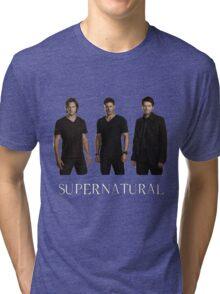 Supernatural - Jared, Jensen & Misha Tri-blend T-Shirt