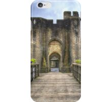 Caerphilly Castle Gatehouse in South Wales iPhone Case/Skin