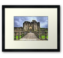 Caerphilly Castle Gatehouse in South Wales Framed Print