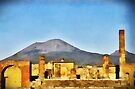 Ruins of Pompeii & Vesuvius, Italy by David Carton