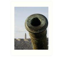 Cannon & El Morro lighhouse, Havana, Cuba Art Print