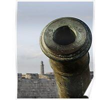Cannon & El Morro lighhouse, Havana, Cuba Poster