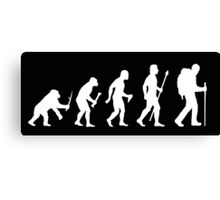 Evolution Of Man and Hiking Canvas Print