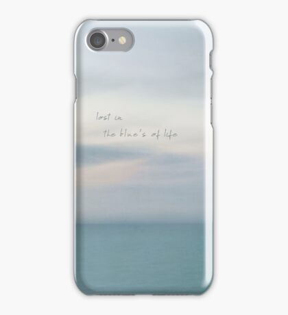lost in the blue's of life iPhone Case/Skin