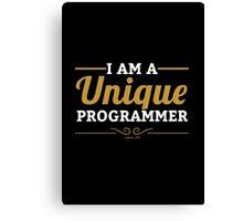 programmer : i am a unique programmer Canvas Print