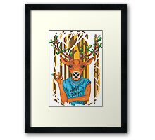 Deer parody daft punk  Framed Print