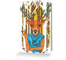 Deer parody daft punk  Greeting Card