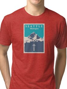 Seattle Washington. Tri-blend T-Shirt