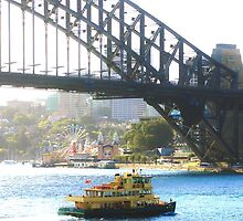 Sydney Harbour Bridge with Ferry and Luna Park by GeorgeOne