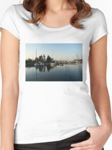 Hot Summer - Clear Sky and Sunshine at the Yacht Club Women's Fitted Scoop T-Shirt