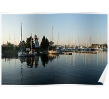 Hot Summer - Clear Sky and Sunshine at the Yacht Club Poster