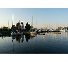 Hot Summer - Clear Sky and Sunshine at the Yacht Club Photographic Print