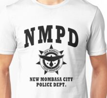 New Mombasa Police Dept. - Halo - Black Unisex T-Shirt
