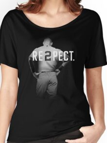 Respect Derek Jeter Re2pect 2 On Back new york uniform MJ baseball Women's Relaxed Fit T-Shirt