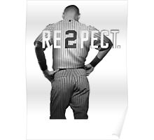 Respect Derek Jeter Re2pect 2 On Back new york uniform MJ baseball Poster
