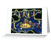Chrono Trigger Camping Scene Greeting Card