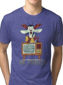 Mr. Potbelly attacks - from series Mr. Potbelly and Mr. Snot Tri-blend T-Shirt