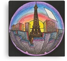 City in a sphere Canvas Print