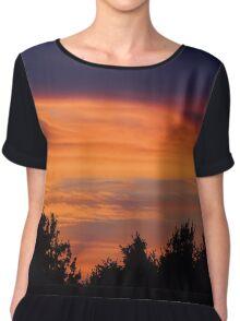 Coucher de soleil sur la forêt Chiffon Top