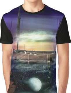 Sailing through the Night Sky Graphic T-Shirt