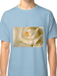 Close up of a beautiful and perfect white rose Classic T-Shirt