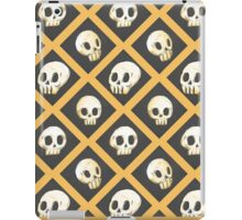Tiling Skulls 1/4 - Yellow  iPad Case/Skin