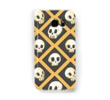 Tiling Skulls 1/4 - Yellow  Samsung Galaxy Case/Skin