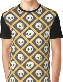 Tiling Skulls 1/4 - Yellow  Graphic T-Shirt