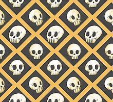 Tiling Skulls 1/4 - Yellow  by Charlie Pringle