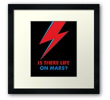 """David Bowie """"Is There Life on Mars?"""" original design Framed Print"""