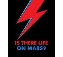 """David Bowie """"Is There Life on Mars?"""" original design Photographic Print"""