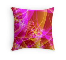FLORAL CONFLAGRATION Throw Pillow