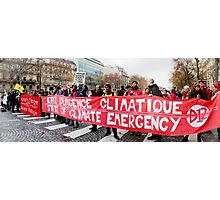 State of Climate Emergency Photographic Print